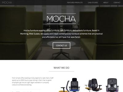 Mocha Furniture new site web design html5 css3