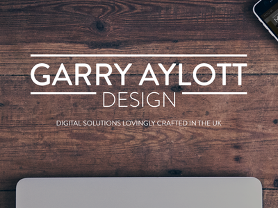 Garry Aylott Design header design web design typography header