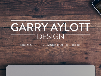 Garry Aylott Design header design web design typography header