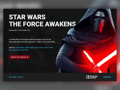 Movie Card web design ui design movie ui movies movie card the force awakens star wars