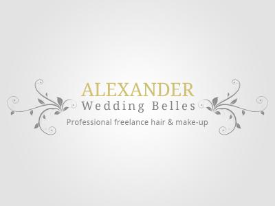 Alexander Wedding Belles Logo logos swirls vectors typography