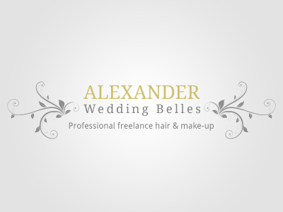 Alexander Wedding Belles Logo logos swirls vectors typography