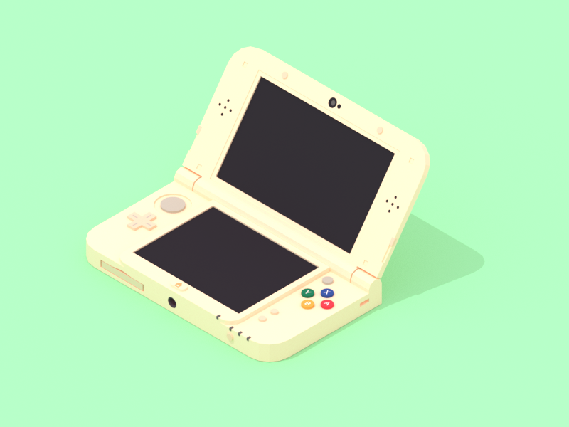 Nintendo 3DS gaming nintendo 3ds 3ds nintendo retro console minimalist blender low poly illustration 3d lowpoly