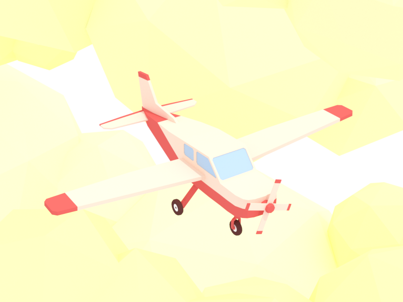Airplane blender3d plane airplane clouds minimalist blender low poly illustration 3d lowpoly