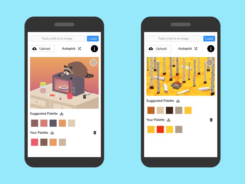 Color Picker Mobile App app app  design colors swatches mobile app design mobile app mobile design image color picker color scheme palettes palette productivity color picker