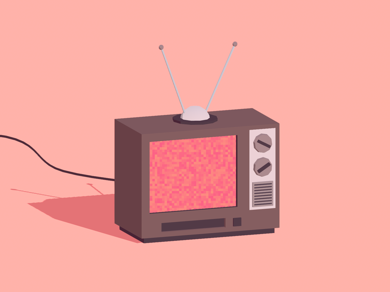 Old TV unity retro minimalist television tv unity3d blender low poly illustration 3d lowpoly