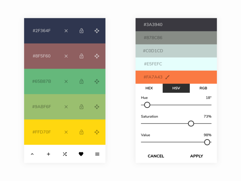 Color Scheme Generator by Sorin Covor on Dribbble