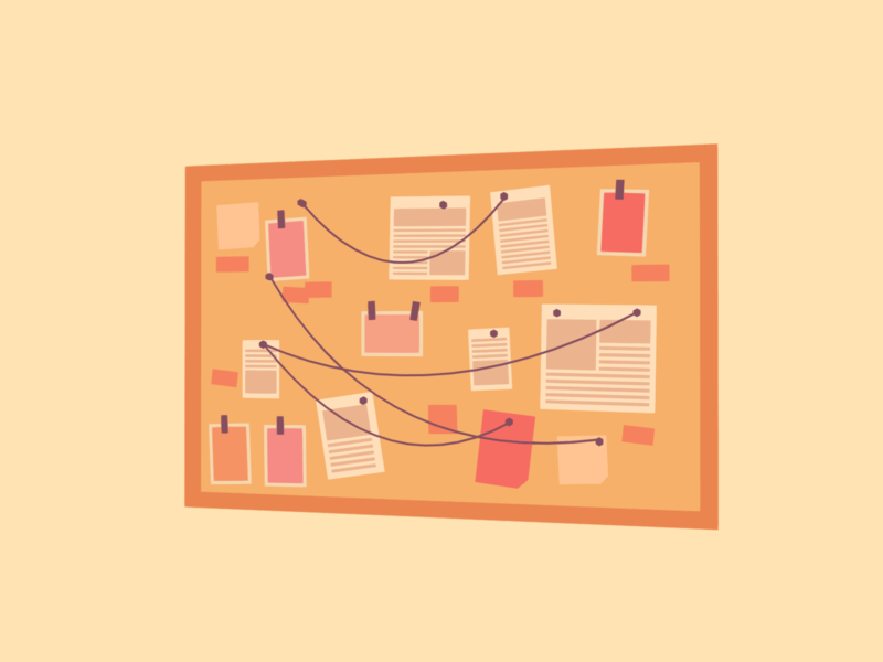 Investigate moodboard minimalist blender low poly 3d illustration lowpoly