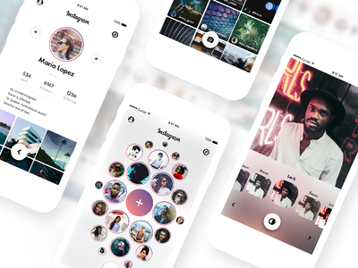 Instagram Redesign 2017 ig filter social app profile sn social network photo sharing photography camera redesign social community stories story photo ui ux mobile app instagram