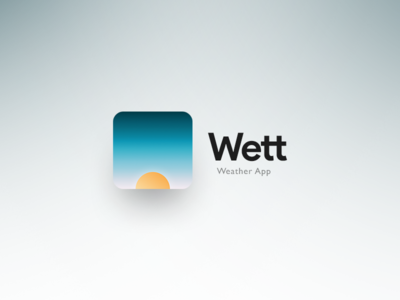 Logo for Wett - weather app concept for iPhone X