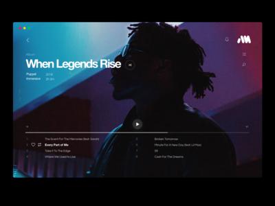 AirMusic - Desktop UI, Music Player