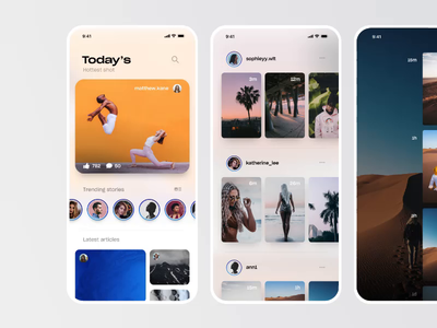 Stories Viewing Modes - Social Network - Photo App