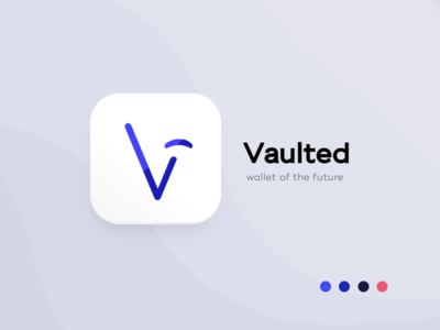 Vaulted, mobile banking app - Logo / App Icon