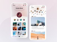 Photo Social Network - Profile and Home screens