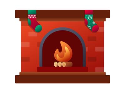 Fireplace bricks brick fire place christmas stockings stocking fire fireplace winter