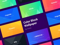 Color block wallpaper