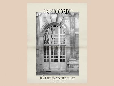 Concorde Regular - Poster Promo grain poster design 35mm film photography film marais place des vosges parisian typography paris font design font vector design handlettering lettering typography