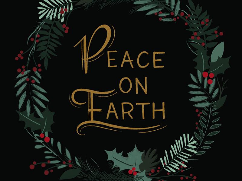 peace on earth dribble3 - Peace On Earth Christmas Cards
