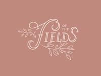 Of the Fields Floral Logo Design - Alternate 2