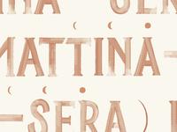 Mattina—Sera Texture Detail