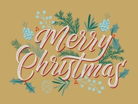 Merry Christmas Card Illustration