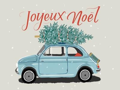 Joyeux Noël Christmas Card