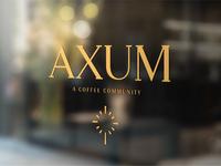 Axum Coffee Branding - Window Vinyl