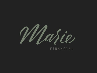 Marie Financial Brand Design