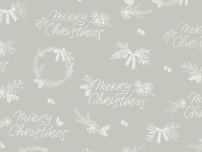 Merry Christmas Wrapping Sheet Pattern