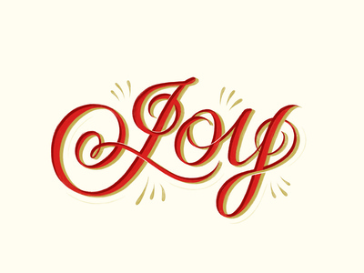 Joy Holiday Lettering