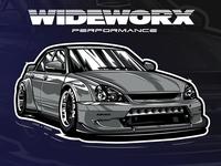 Lada Priora Wideworks performance