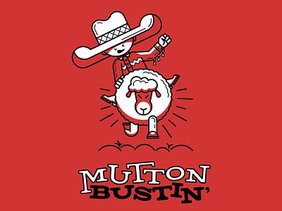 Mutton Bustin' T-Shirt ride child fast fun geometric kid western cowboy rodeo sheep mutton t-shirt