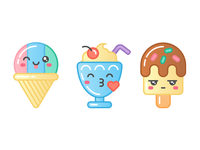 Sweet Shop: Snow Cone, Milkshake, Popsicle