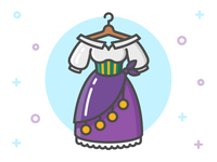 Princess Dress Icon Series: Esmeralda