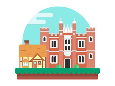 Epcot United Kingdom europe vacation building travel illustration icon england united kingdom house graphic epcot disney