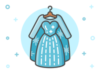 Princess Dress Icon Series: Elsa