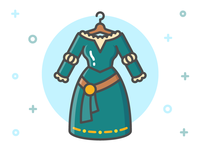 Princess Dress Icon Series: Merida