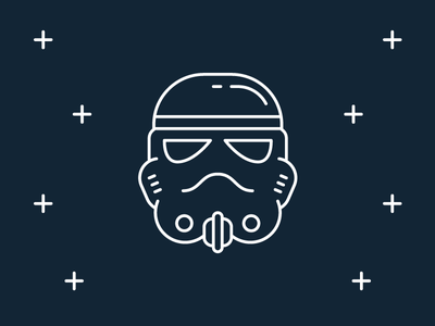 Star Wars Icons: Stormtrooper flat darth vader movie han solo icon disney space line trooper storm stormtrooper star wars