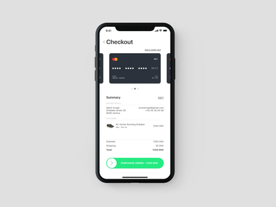 002 Daily UI - Credit Card Checkout daily ui 002 daily 100 challenge checkout shopping basket slide to pay credit card credit card checkout ux iphone x