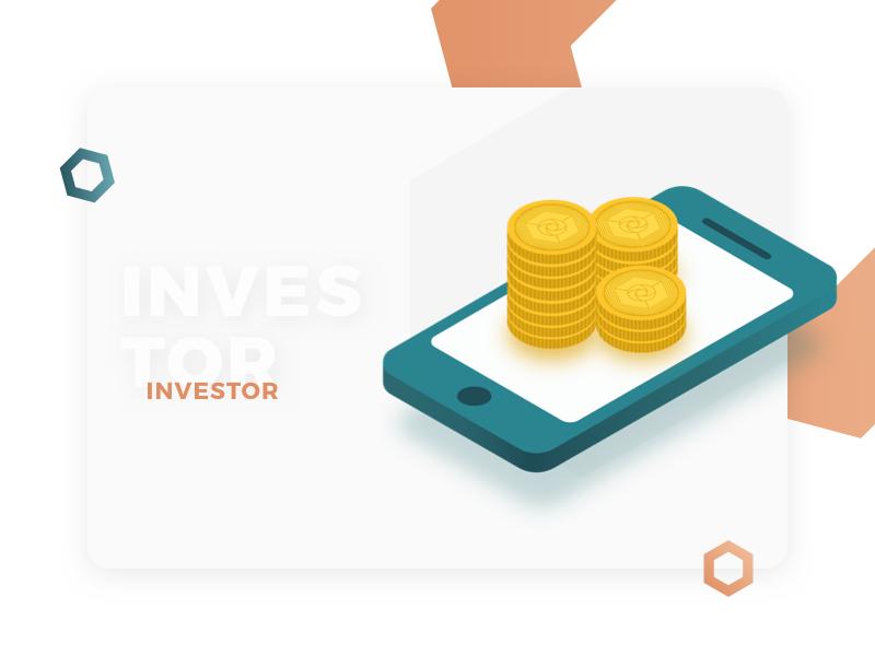 Investor Profile - Illustration for Cryptocurrency Website web design user interface ui investor profile expanse cryptocurrency design illustration isometric