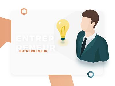 Entrepreneur Profile - Illustration for Cryptocurrency Website web design user interface ui entrepreneur profile expanse cryptocurrency design illustration isometric