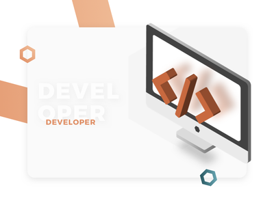 Developer Profile - Illustration for Cryptocurrency Website web design user interface ui development developer profile expanse cryptocurrency design illustration isometric