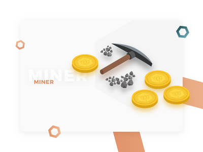 Miner Profile - Illustration for Cryptocurrency Website web design user interface ui mining miner profile expanse cryptocurrency design illustration isometric