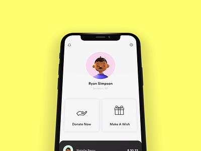 Donate for a cause! 💰 proto.io prototype iphonex gradient cards iphone x video iphone design xd adobe xd ios