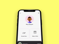 Donate for a cause! 💰 proto.io prototype iphonex gradient cards iphone x video iphone design xd adobe xd ios