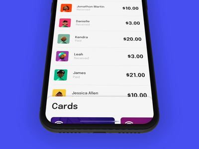 Card Payment 💳 lottie done successful transaction cards ui due payments payment protopie iphonex gradient iphone x cards video iphone design adobe xd ui ios