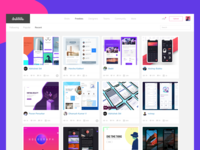 Dribbble - Freebies Section