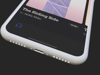 Podcasts App - Rendered in Rotato / Design Camera