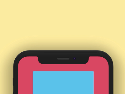Freebie - XD Auto-Animate gifs slide rotate notch animated download buttons walkthrough colors iphonex freebie cards video ui kit iphone iphone x xd adobe xd ios ui