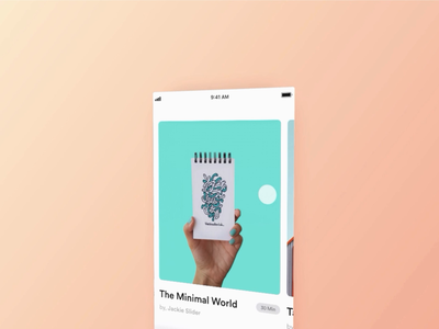 Card Sliding Animation : Adobe XD icons time stamp tabbar article autoanimate animate move glide minimal touch motion cards video iphone design xd adobe xd ios ui